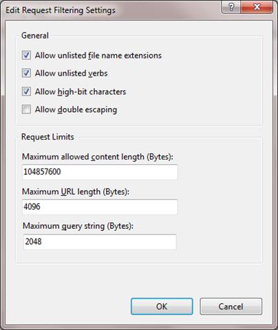 Увеличение лимита на размер загружаемых на сервер файлов в IIS7